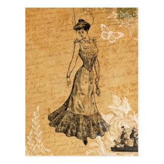 Postal Señora Postcard del vintage