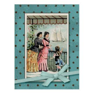 Postal Señoras del Victorian y reproducción del vintage