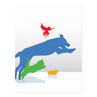 Postal Sentada del mascota