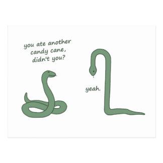 Postal Serpiente del bastón de caramelo