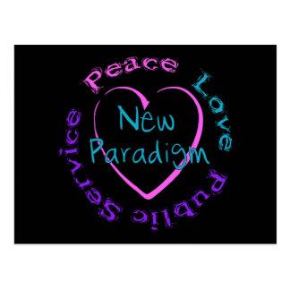 Postal Servicio del amor de la paz