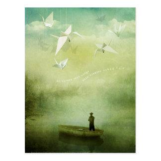 Postal Si los deseos eran alas (la postal)