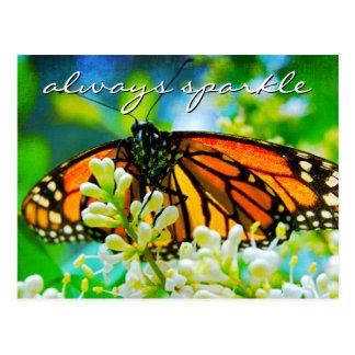"Postal ""Siempre foto de la mariposa de monarca de la cita"