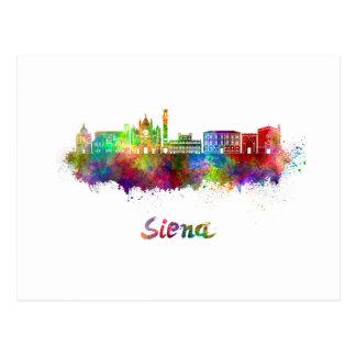 Postal Siena skyline in watercolor