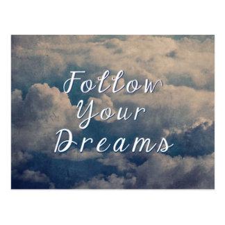 Postal Siga sus sueños