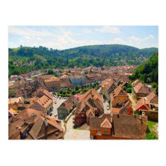 Postal Sighisoara, tejados de la ciudad