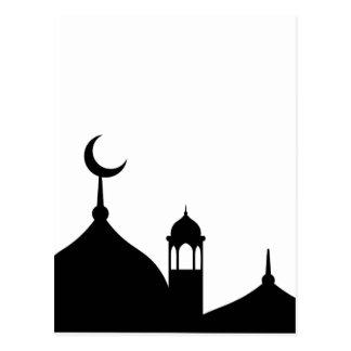 Postal Silueta de la mezquita