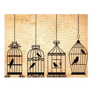 Postal Siluetas del Birdcage