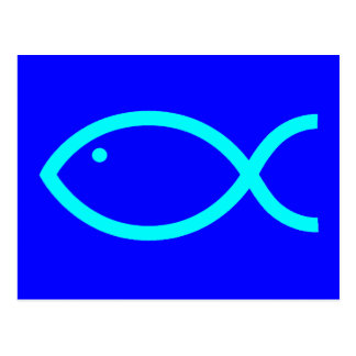Postal ¡Símbolo cristiano de los pescados - RUIDOSAMENTE!