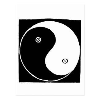 Postal Símbolo de Yin Yang del chino