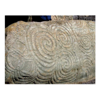 Postal Símbolos célticos de Newgrange Irlanda