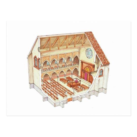 Postal Sinagoga. Siglo XV. Europa Central