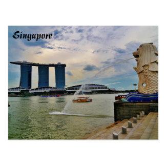 Postal Singapur: Merlion y hotel de las arenas de la