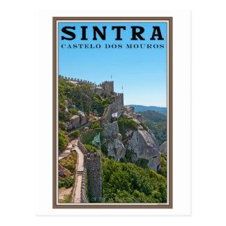 Postal Sintra - el castillo del amarra