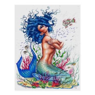 Postal Sirena azul