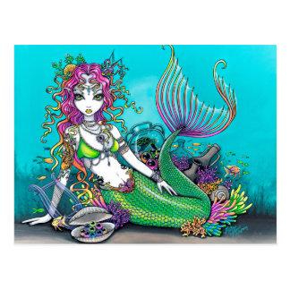 Postal Sirena gótica de Lyra