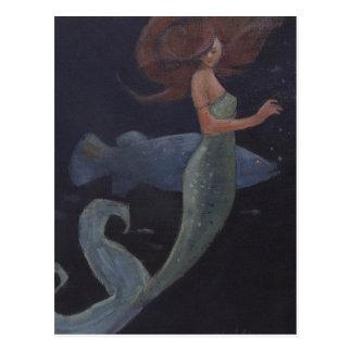Postal Sirena y los pescados azules