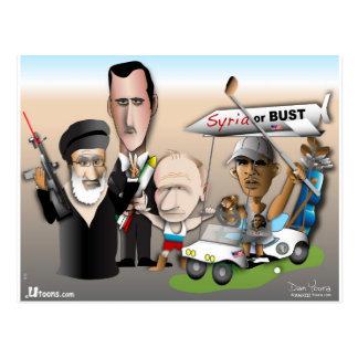 Postal Siria o busto
