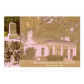 Postal Sitio histórico de la captura de Jefferson Davis -