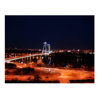 Postal Slovakia - Bratislava - The Puente At Night
