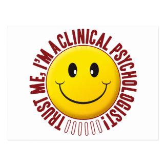 Postal Smiley de la confianza del psicólogo clínico