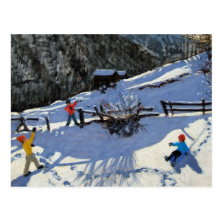 Postal Snowballers Zermatt