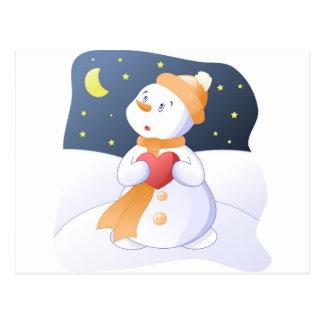 Postal snowman_in_love