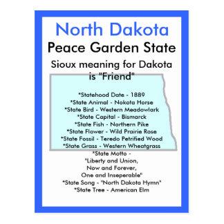 Postal Sobre Dakota del Norte