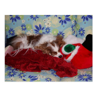 Postal Sobrecarga arrogante del navidad del perro de