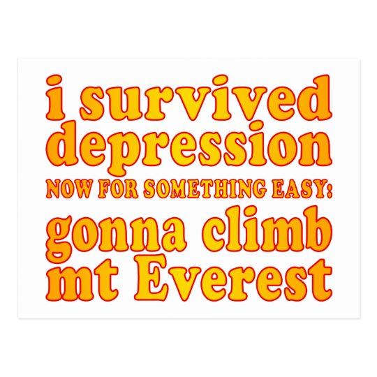 Postal Sobreviví la depresión - ahora yendo a subir Mt