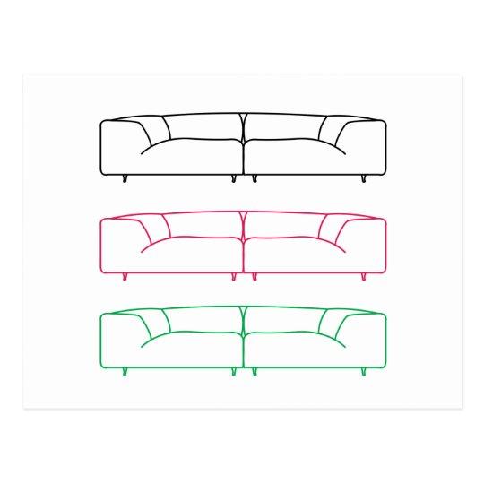 Postal Sofá moderno de la sala de estar
