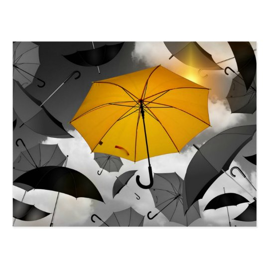Postal Sol en su manera, avalancha del paraguas