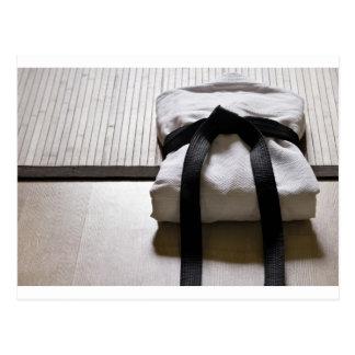 Postal Soldado enrollado en el ejército del judo en la