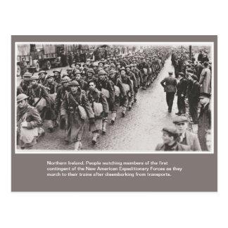 Postal Soldados americanos de la guerra mundial 2 en