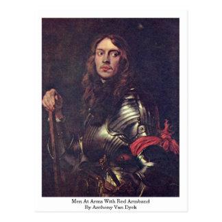 Postal Soldados con el brazal rojo de Anthony Van Dyck