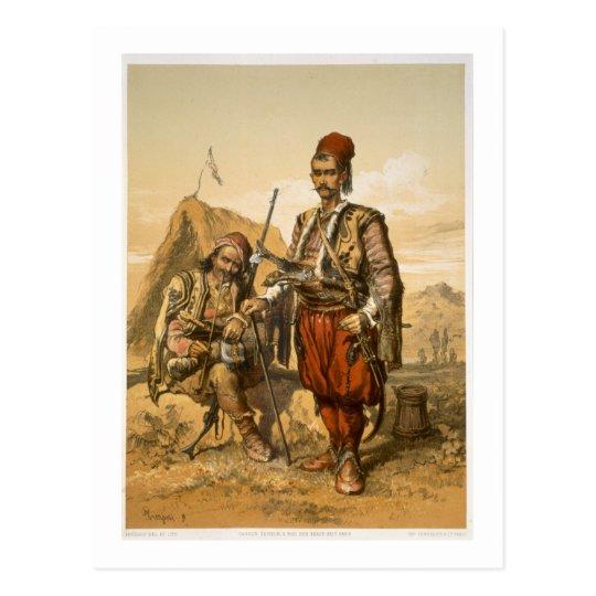 Postal Soldados de infantería turcos en el ejército del