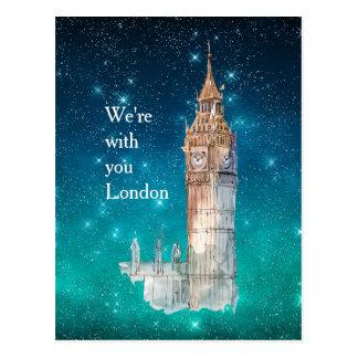 Postal Solidaridad de Londres de la acuarela de Big Ben