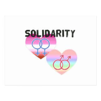 Postal Solidaridad gay lesbiana