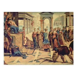 Postal Solomon y la reina de Sheba