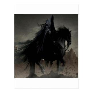 Postal sombra abstracta horsemen.jpg de la fantasía