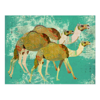Postal soñadora de los camellos