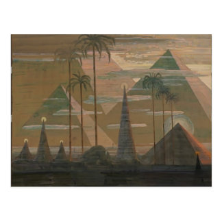 Postal Sonata de Mikalojus Ciurlionis- de las pirámides