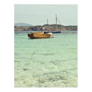 Postal Sonido del agua azul clara de Iona