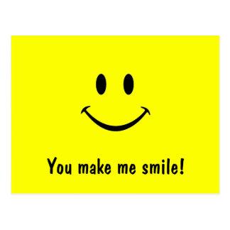 ¡Postal sonriente de la cara usted hace que sonríe
