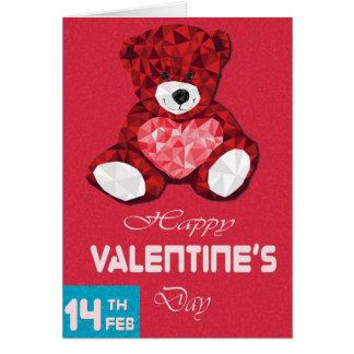 Postal sonriente del el día de San Valentín del