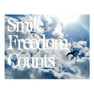 Postal Sonrisa, cuentas de la libertad
