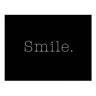 Postal Sonrisa. Plantilla blanco y negro de la cita de la