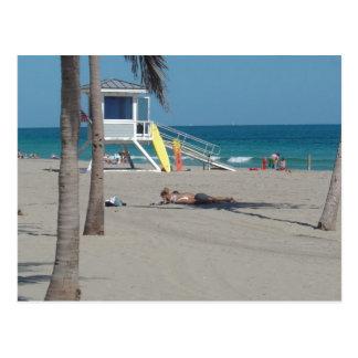 Postal Soporte del salvavidas del pie Lauderdale la