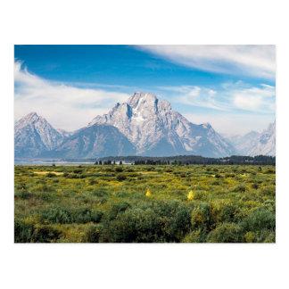 Postal Soporte Moran en el parque nacional magnífico de