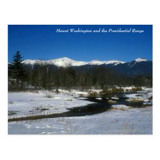Postal Soporte Washington y gama presidencial en invierno